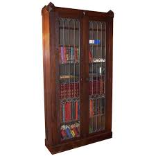 Arts And Craft Bookcase Arts And Crafts Style Oak Bookcase With Leaded Glass Doors For