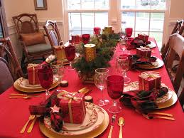 christmas table settings red and gold decorations ideas
