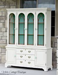Hutches In Lehi Beautiful Restored Blue And Cream Hutch Hometalk