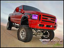 Ford F250 Truck Parts - 05 07 ford f250 f350 led colorshift halo rings headlights bulbs