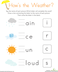 write the missing letter how u0027s the weather worksheet