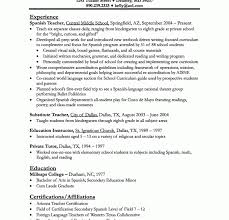 Substitute Teacher Resume Examples by Teacher Resume Samples Haadyaooverbayresort Com