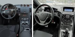 Nissan Z370 Interior 2015 Hyundai Genesis Coupe Vs 2016 Nissan 370z Autoguide Com News
