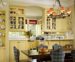 french country blue and yellow decor kitchen traditional with