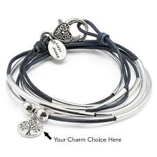 leather with silver bracelet images Girlfriend wrap leather wrap bracelet lizzy james jpg