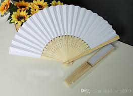 cheap paper fans paper folding fan handheld fan white color children s