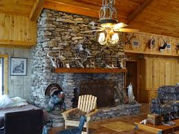 hunting lodge fireplace home design inspirations
