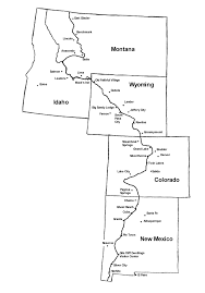 Rocky Mountain States Map Thru Hiking Maps Feral Mountain Company