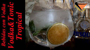 vodka tonic recipe vodka tonic tropical drinks vodka youtube