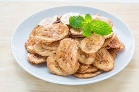 huile de noix de coco cuisine la banane déshydratée ébrèche la cuisine frite en huile de noix de