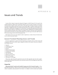 appendix g issues and trends airport passenger terminal