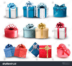 boxes with bows set colorful gift boxes bows ribbons stock vector 166855145