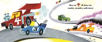 cartoon race car race car count rebecca kai dotlich macmillan