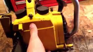 chainsaw talk mcculloch mac 110 youtube