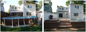 Backyard Renovations Before And After Aarco Renovation Before And After Aarco
