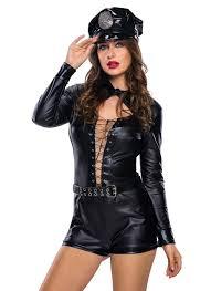 cop halloween costumes s stylish 6pcs female cop costume chicuu com