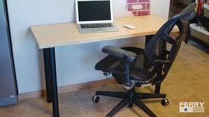 make a simple office desk baltic birch33