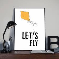 minimal decor printable poster let u0027s fly minimal decor for kids room fly high
