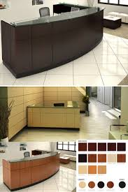 Affordable Reception Desk Modern Affordable Reception Desk In Wood Finish Laminate
