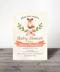 baby fox baby shower invite woodland baby shower gender