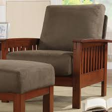 hills mission style oak accent chair by inspire q classic by