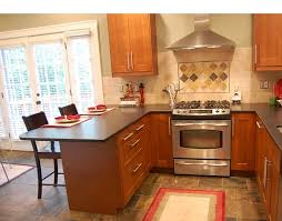 picture of small kitchen with peninsula home kitchen cabinet