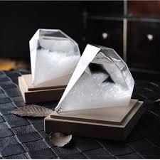 crystal home decor weather forecast storm glass crystal diamond shape bottle home