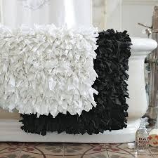 Black Bathroom Rug White Fluffy Bathroom Rugs My Web Value
