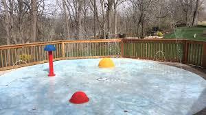 splashscapes residential backyard splash pad spray park youtube