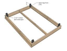 Simple King Platform Bed Frame Plans by Ana White Hailey Platform Bed Diy Projects