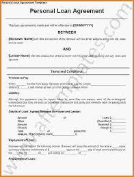 free loan agreement template free personal loan agreement in word