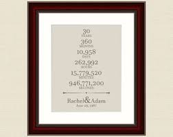 30 year anniversary gifts 3rd anniversary gift for him 30 year wedding anniversary gift