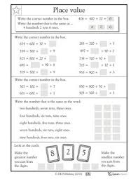 collections of free printable math worksheets 2nd grade place