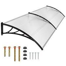 pensilina tettoia in policarbonato plexiglass tectake pensilina tettoia in policarbonato per porta o finestra