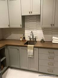 two tone kitchen cabinets brown remodelaholic grey and white kitchen cabinet ideas