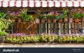 balcony decorated flowers stock photo 329268803 shutterstock