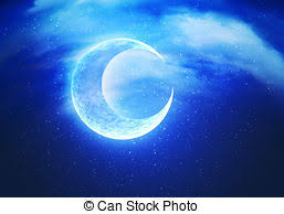 abstract crescent moon stylized abstract textured crescent