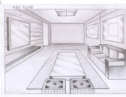 draw a room one point perspective drawing room drawing of a room