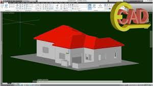 Cad House by 3d House Modeling In Autocad Youtube