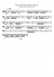 snare drum sheet music