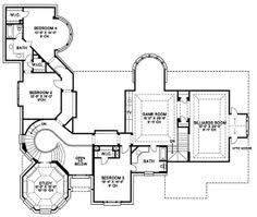 Backyard House Plans by Lexington House Plan 06001 2nd Floor Plan Traditional Style