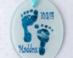 baby handprint glass etsy