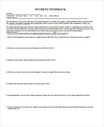 7 counseling feedback form samples free sample example format