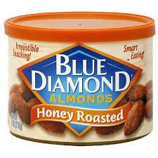 blue diamond honey roasted almonds 6 oz pack of 12 walmart com