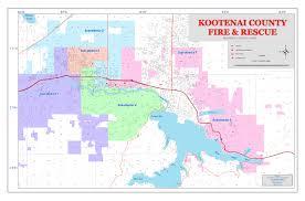 Idaho County Map Kootenai Fire U0026 Rescue District Map