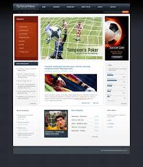 website template 50179 top soccer news custom website template