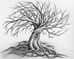 halloween spooky tree silhouette twisted tree pencil drawing by sonny bergum fine art by sonny