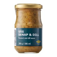 dill mustard sås senap dill sauce for salmon ikea