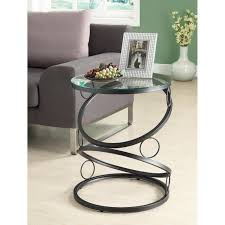 Small Black Accent Table This Modern Glass Accent Table Features A Glass And Black Matte