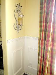 diy faux wainscoting in the dining room at the picket fence